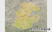Satellite 3D Map of Boulkiemde, semi-desaturated