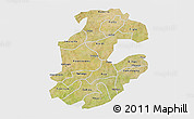 Satellite 3D Map of Boulkiemde, single color outside