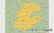 Savanna Style 3D Map of Boulkiemde
