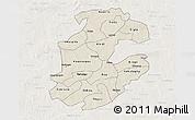 Shaded Relief 3D Map of Boulkiemde, lighten