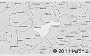Silver Style 3D Map of Kindi