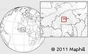 Blank Location Map of Kindi