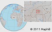 Gray Location Map of Kindi