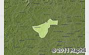 Physical Map of Kindi, darken