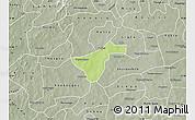 Physical Map of Kindi, semi-desaturated