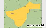 Savanna Style Simple Map of Kindi