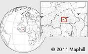 Blank Location Map of Kokologho