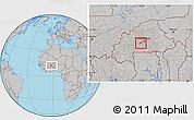 Gray Location Map of Kokologho