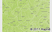 Physical Map of Koudougou