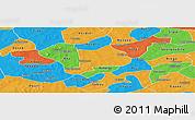 Political Panoramic Map of Koudougou