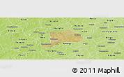 Satellite Panoramic Map of Koudougou, physical outside