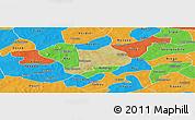 Satellite Panoramic Map of Koudougou, political outside