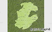 Physical Map of Boulkiemde, darken
