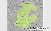 Physical Map of Boulkiemde, desaturated