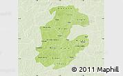 Physical Map of Boulkiemde, lighten
