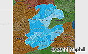Political Shades Map of Boulkiemde, darken