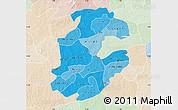 Political Shades Map of Boulkiemde, lighten