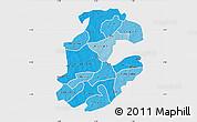 Political Shades Map of Boulkiemde, single color outside