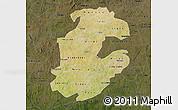 Satellite Map of Boulkiemde, darken