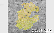 Satellite Map of Boulkiemde, desaturated