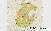 Satellite Map of Boulkiemde, lighten