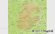 Satellite Map of Boulkiemde, physical outside