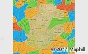 Satellite Map of Boulkiemde, political outside