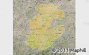 Satellite Map of Boulkiemde, semi-desaturated