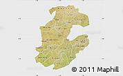 Satellite Map of Boulkiemde, single color outside