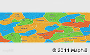 Political Panoramic Map of Nanoro
