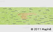 Satellite Panoramic Map of Nanoro, physical outside