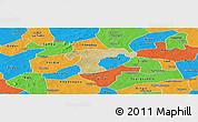 Satellite Panoramic Map of Nanoro, political outside