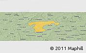 Savanna Style Panoramic Map of Nanoro