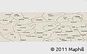 Shaded Relief Panoramic Map of Nanoro