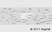 Silver Style Panoramic Map of Nanoro