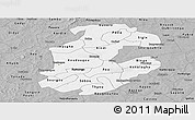Gray Panoramic Map of Boulkiemde