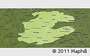 Physical Panoramic Map of Boulkiemde, darken