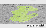 Physical Panoramic Map of Boulkiemde, desaturated