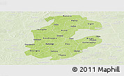 Physical Panoramic Map of Boulkiemde, lighten