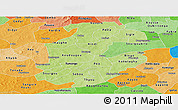 Physical Panoramic Map of Boulkiemde, political shades outside