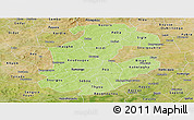 Physical Panoramic Map of Boulkiemde, satellite outside