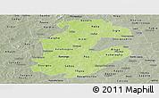 Physical Panoramic Map of Boulkiemde, semi-desaturated