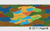 Political Panoramic Map of Boulkiemde, darken