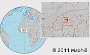 Gray Location Map of Pella
