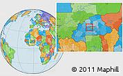 Political Location Map of Pella