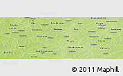 Physical Panoramic Map of Sabou