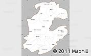 Gray Simple Map of Boulkiemde, cropped outside