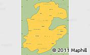 Savanna Style Simple Map of Boulkiemde, cropped outside