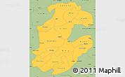Savanna Style Simple Map of Boulkiemde