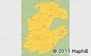 Savanna Style Simple Map of Boulkiemde, single color outside